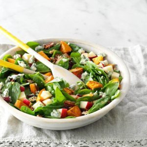 Roasted Sweet Potato Salad with Honey-Maple Vinaigrette