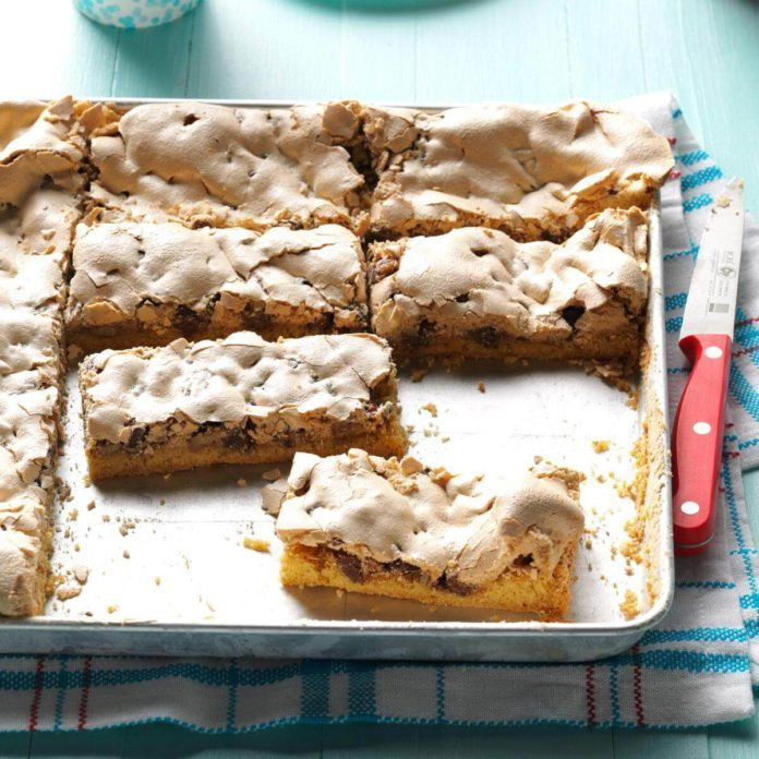Chocolate Chip & Pecan Meringue Bars