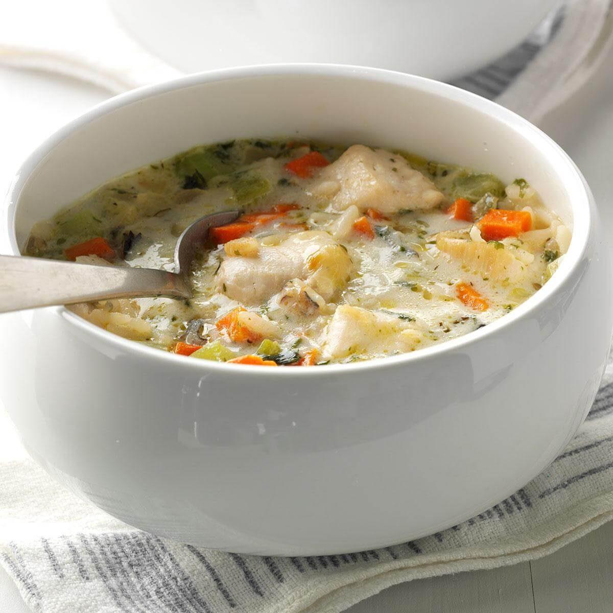Quick Chicken & Wild Rice Soup Recipe