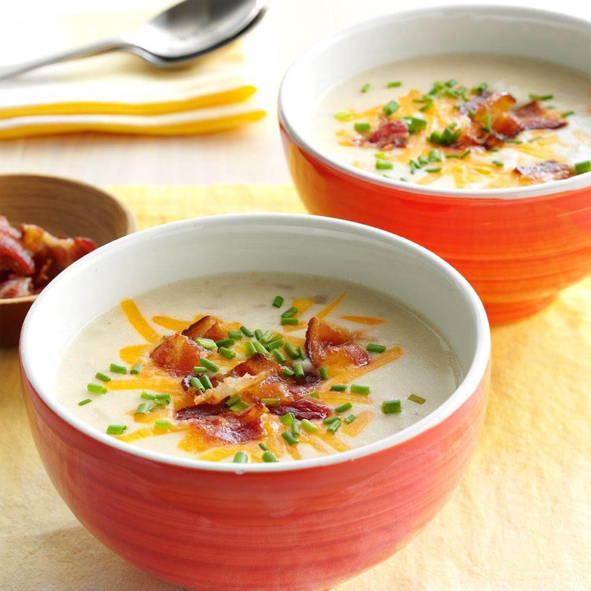 Slow-Cooked Loaded Potato Soup Recipe