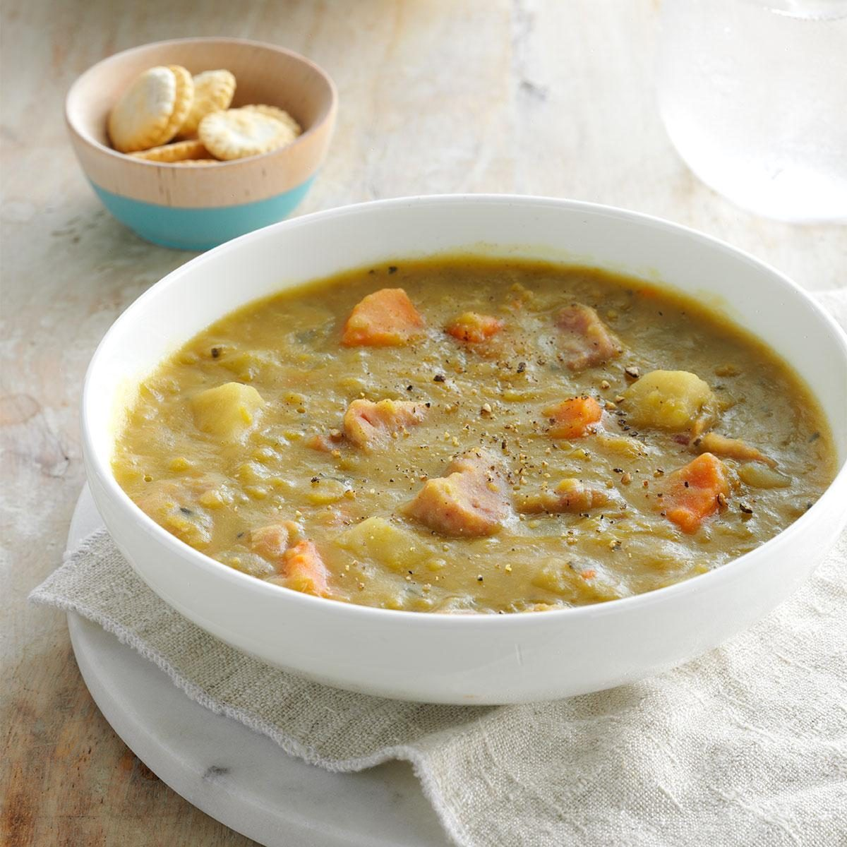 Slow-Cooked Split Pea Soup Recipe | Taste of Home