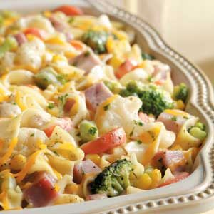 Veggie Noodle Ham Casserole Recipe Taste Of Home
