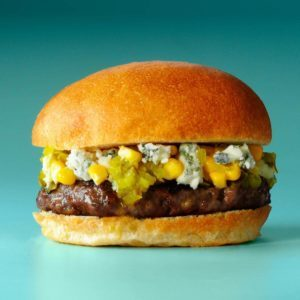 Corn & Blue Burgers