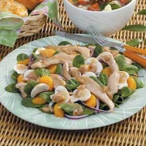 Warm Chicken Spinach Salad