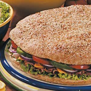 Giant Focaccia Sandwich
