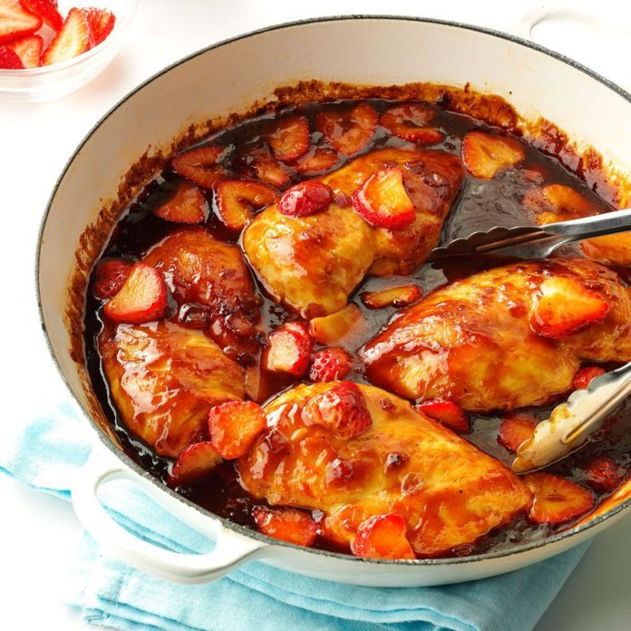 Barbecued Strawberry Chicken