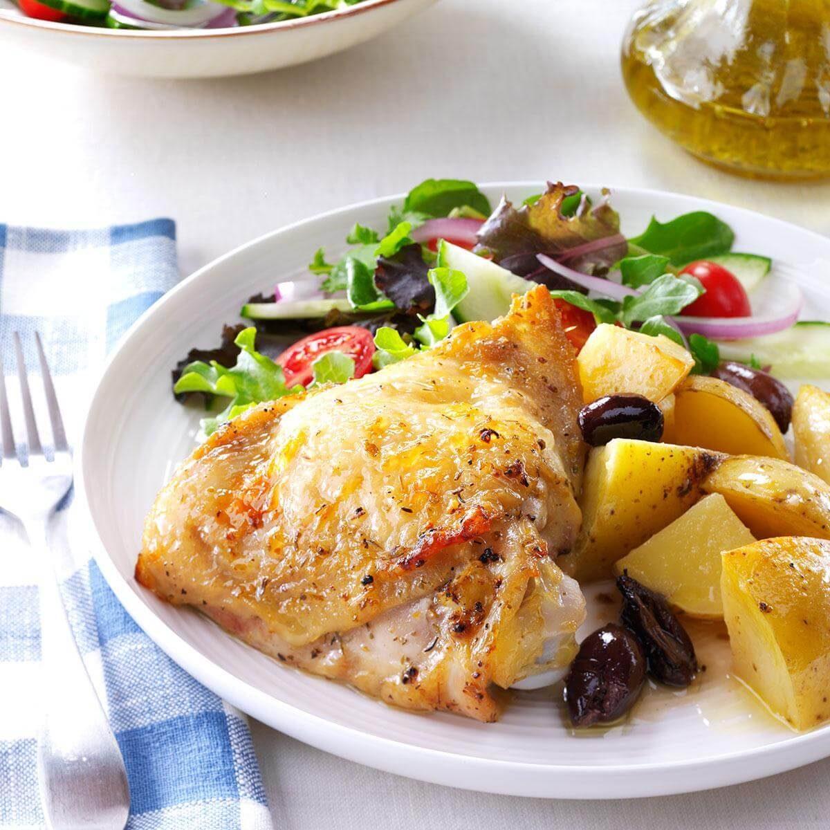Greek-Style Lemon-Garlic Chicken Recipe