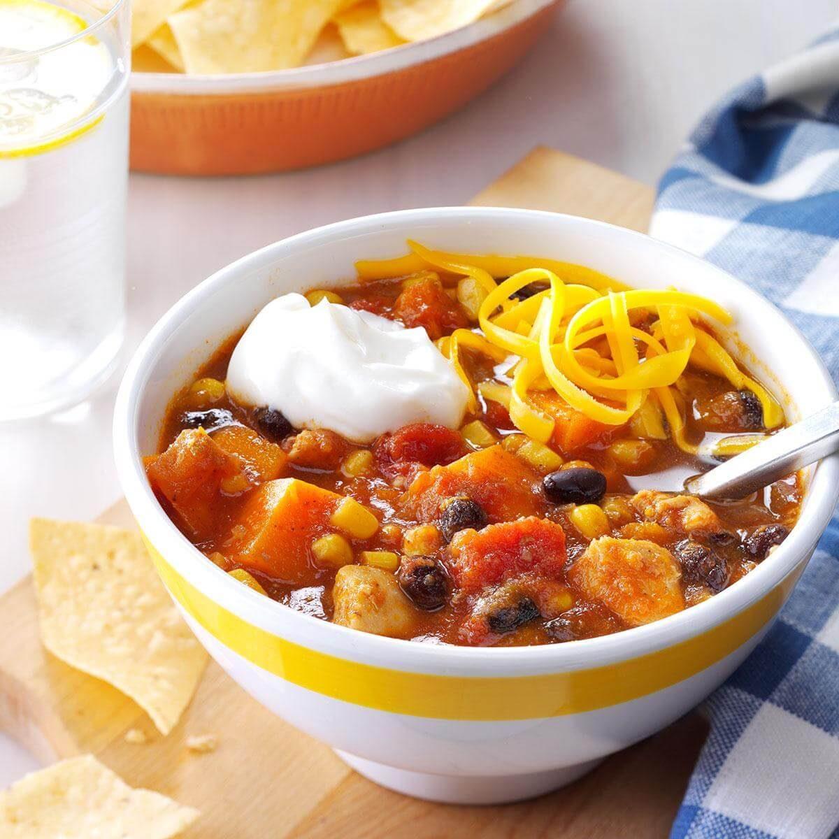 Slow Cooker Chicken & Sweet Potato Chili