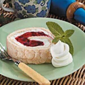 Cherry Angel Cake Roll