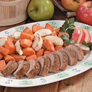 Pork with Apples and Sweet Potatoes