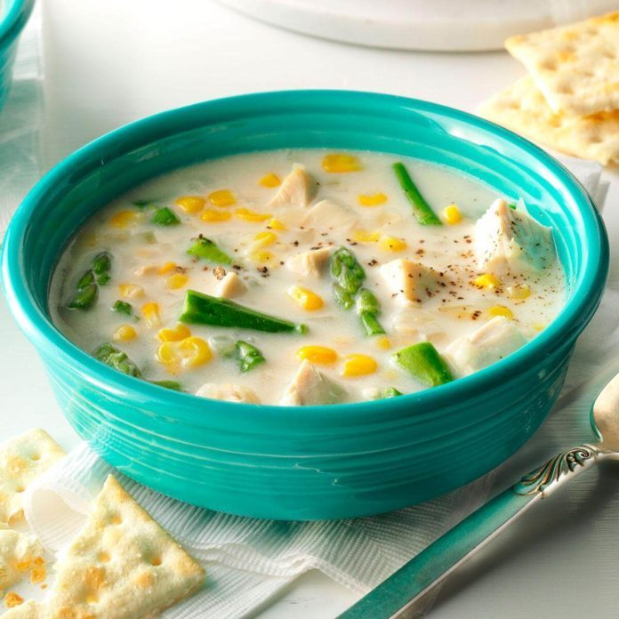 Chicken, Asparagus & Corn Chowder