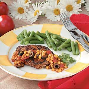 Chops with Corn Salsa