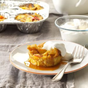Blackout Peach Bread Pudding