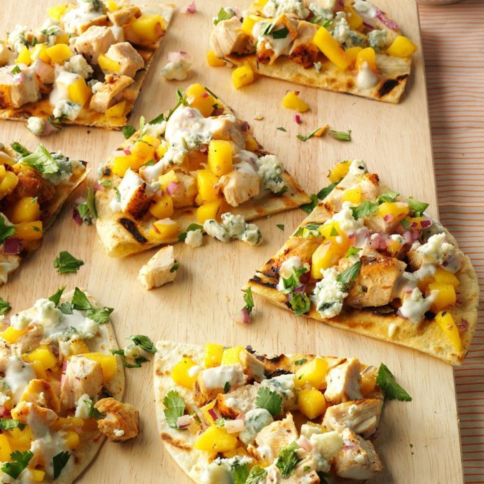 Grilled Chicken, Mango & Blue Cheese Tortillas