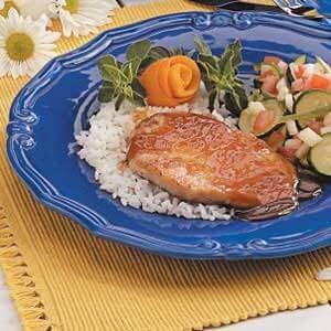 Orange-Glazed Pork Chops