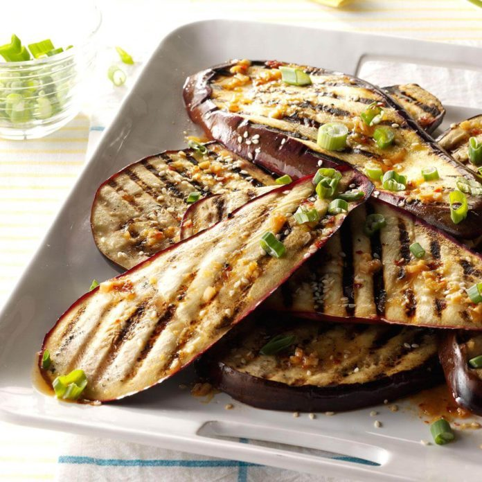 Lime and Sesame Grilled Eggplant