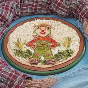 Scarecrow Veggie Pizza