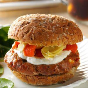 Sun-Dried Tomato Burgers
