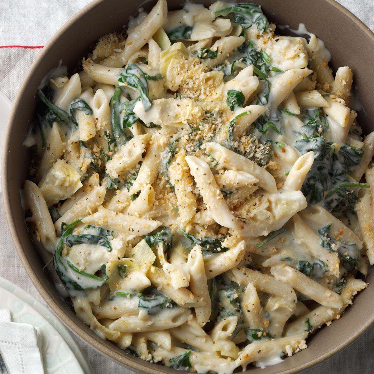 Artichoke Florentine Pasta Recipe