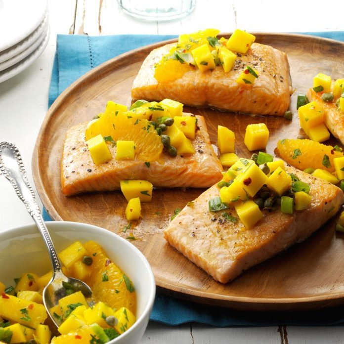 Fish With Mango Salsa