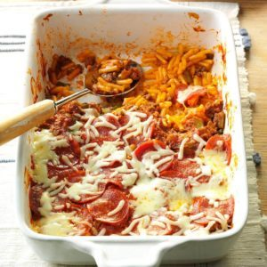 Pizza Macaroni Bake