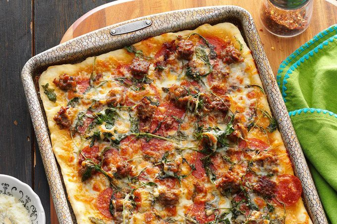 Pizza in a sheet pan