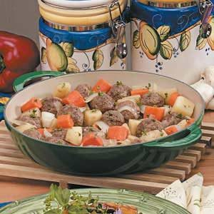 Onion Meatball Stew