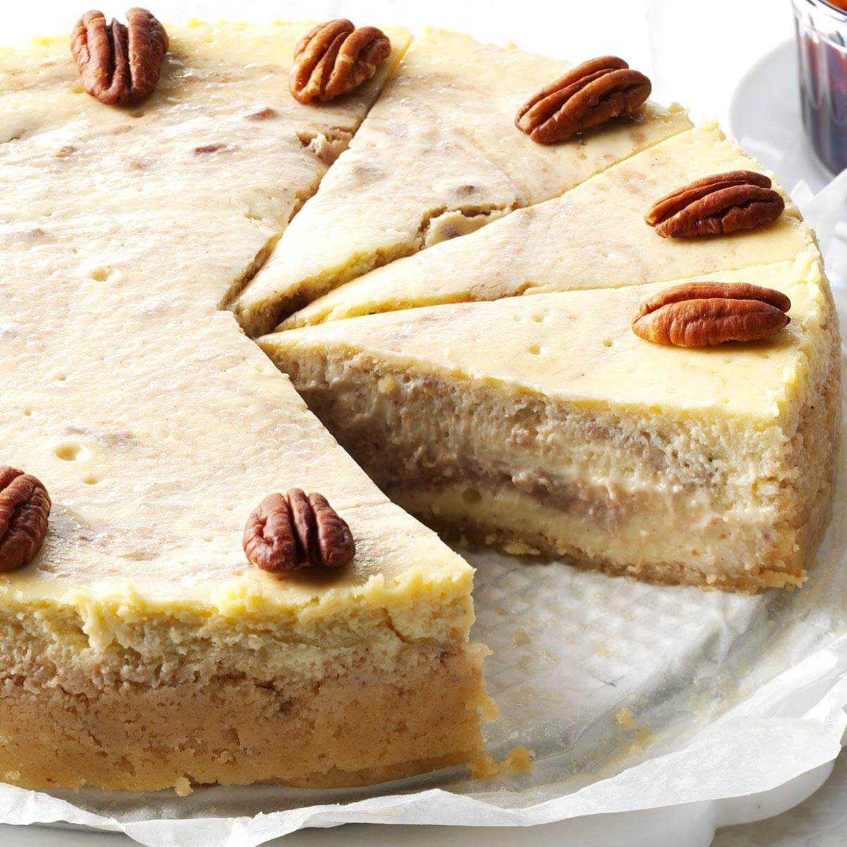 Roasted Banana Amp Pecan Cheesecake Recipe Taste Of Home