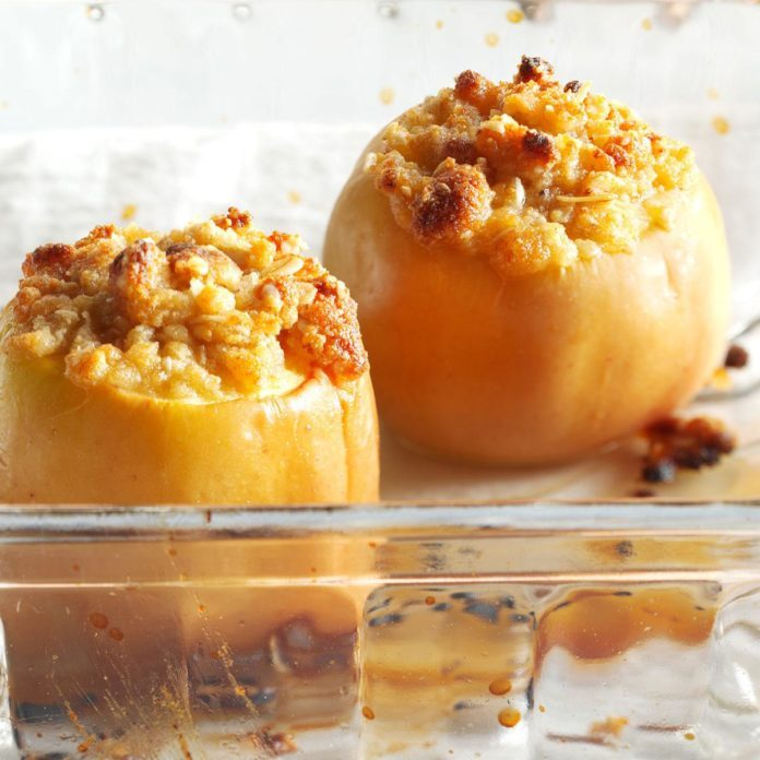 New York: Parmesan Crisp Baked Apples