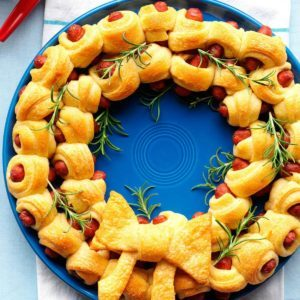 32 fuss free christmas finger foods taste of home ring of piggies forumfinder Image collections