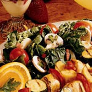 Mushroom Spinach Salad