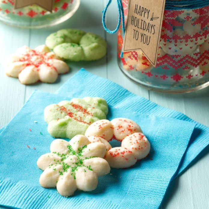 Soft Peppermint Spritz Cookies