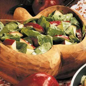 Quick Apple Spinach Salad