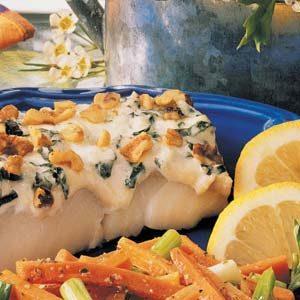 Basil Walnut Fish Fillets
