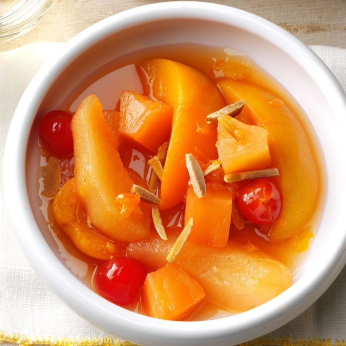 Slow Cooker Spiced Fruit