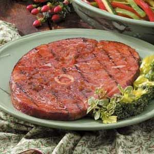 Tangy Grilled Ham Steak