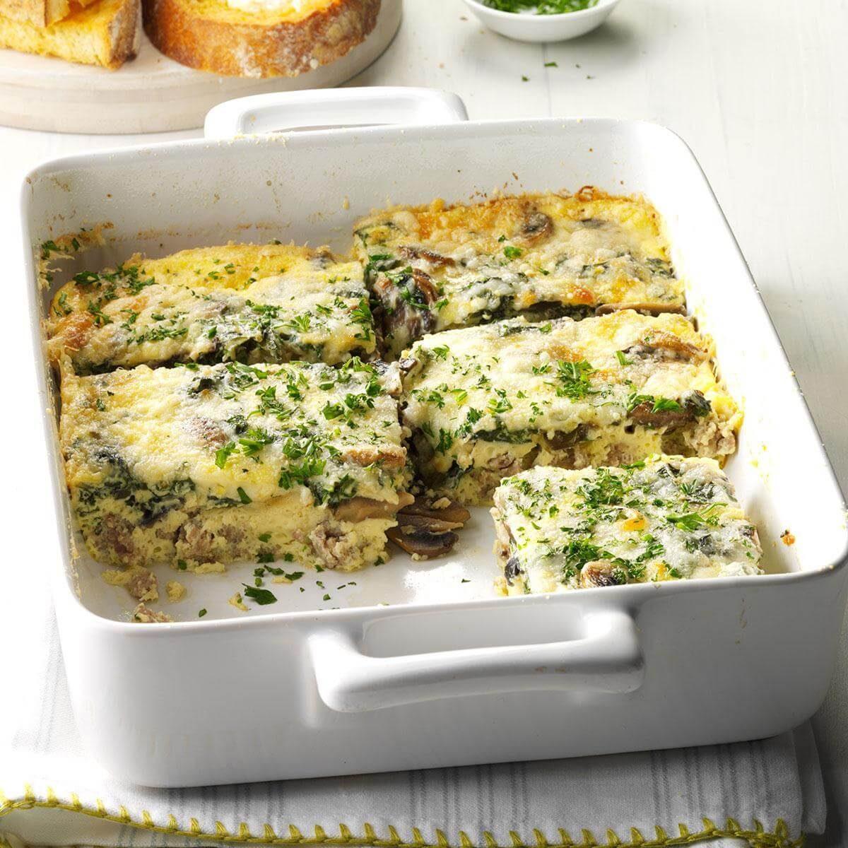 Sausage-Vegetable Egg Bake Recipe