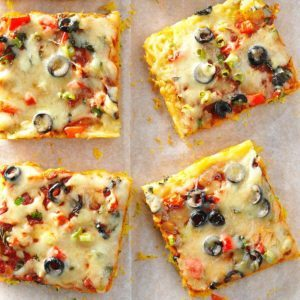 Mozzarella Corn Bread Pizza