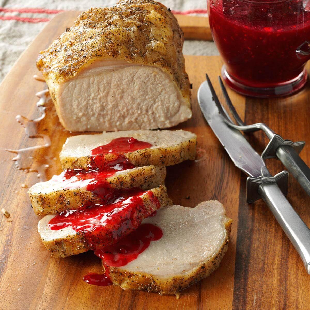 Pork Loin With Raspberry Sauce Recipe