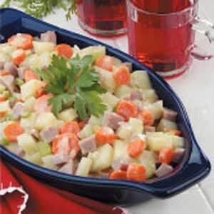 Microwave Potato Ham Dinner