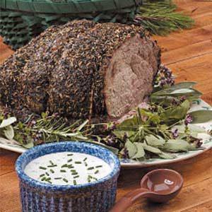 Herbed Roast Beef with Horseradish Sauce