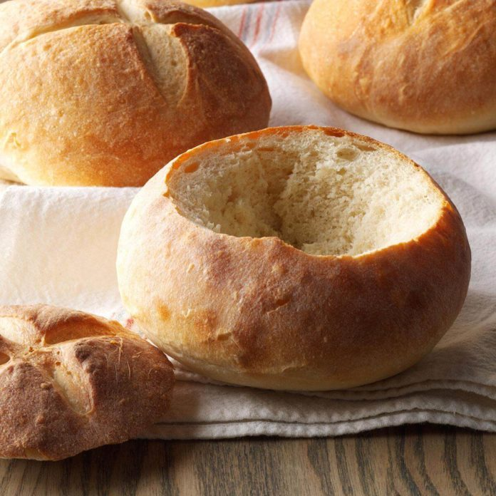 Quick and Easy Bread Bowls Recipe | Taste of Home