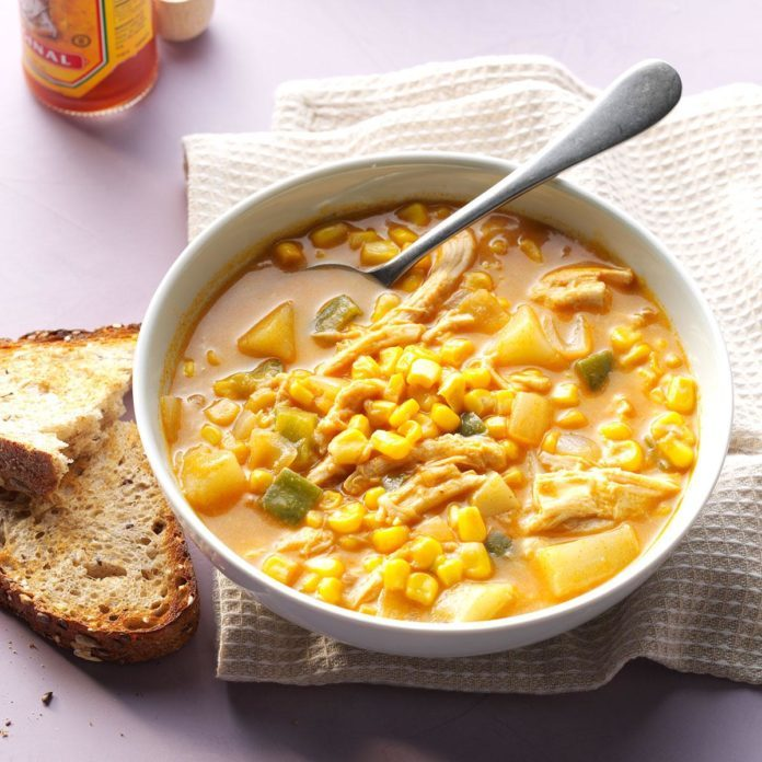 Zippy Chicken and Corn Chowder
