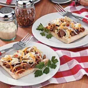 Sausage Artichoke Pizza