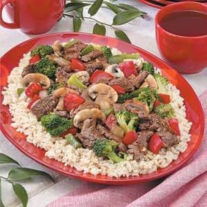Teriyaki Beef Stir-Fry for 3