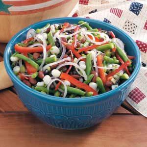 Hominy Bean Salad