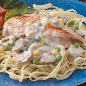 Chicken Veggie Alfredo