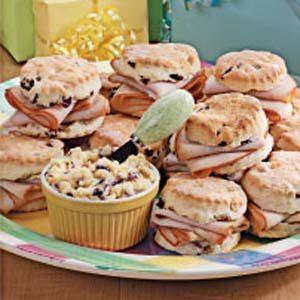 Cranberry Biscuit Turkey Sandwiches
