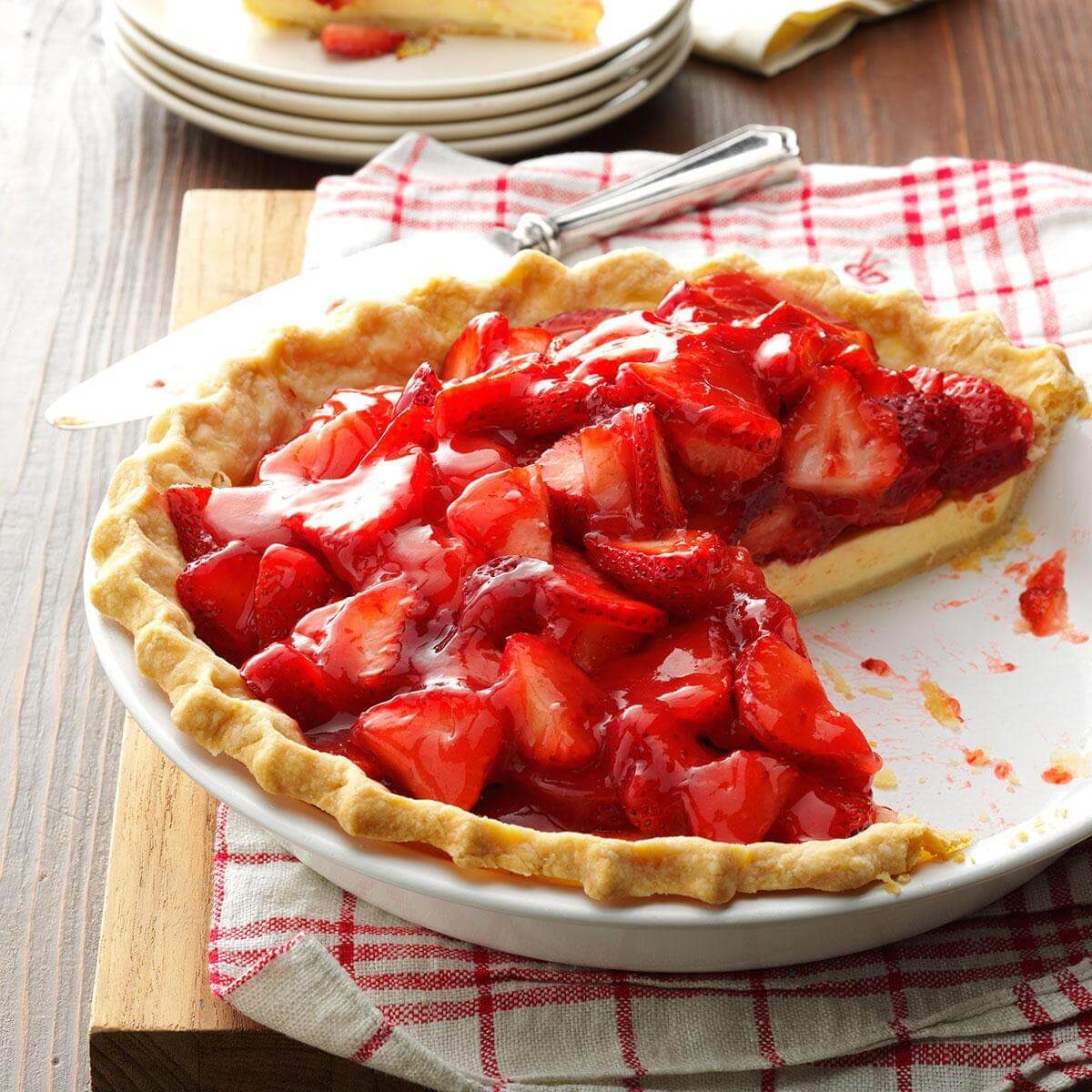 Strawberry Pie Taste Of Home Yummy Bites 123 Flavor Strawbearry