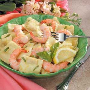 Lemon Shrimp Ravioli Toss